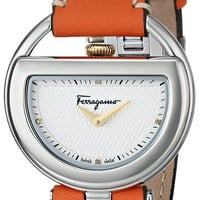 Salvatore Ferragamo Women's FG5040014 BUCKLE Analog Display Quartz Orange Watch
