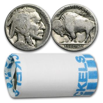 1913-38 Buffalo Nickels $1.00 Face Value 20-Coins (Partial Date)