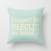 I Suspect the Nargles Are Behind It - Luna Lovegood (Harry Potter) Throw Pillow by Lauren Ward
