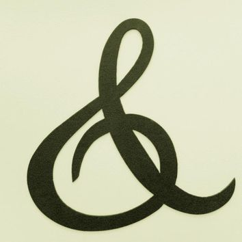 "Ampersand ""And"" ""&"" Sign 10 Inch Metal Wall Art Home Decor"