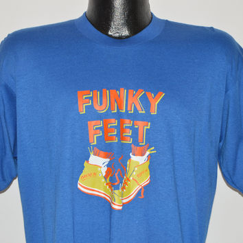 80s Funky Feet Break Dancing t-shirt Large