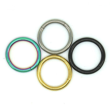 Universal Piercing Rings Labret, Lip, Ear, Nose Septum Piercing Jewelry 4 Colors A21