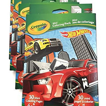 4 Pack Crayola Hot Wheels Cars Mini Coloring Pages 4 Crayons Party Favors