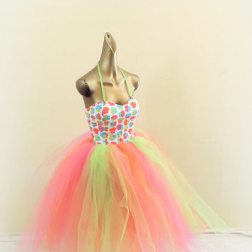 Adult tutu,cupcake tutu dress, adult tutu dress, sweet 16 dress, prom dress, fantasy tutu dress, cos play dress, edc rave raver dress