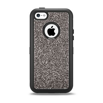 The Black Glitter Ultra Metallic Apple iPhone 5c Otterbox Defender Case Skin Set