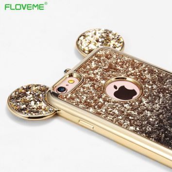 FLOVEME Cartoon Mickey Mouse Minnie Sover Soft TPU Silicon Case For iPhone 7/ 6 6s / plus 7 For Samsung Galaxy S6 S7 S8 Edge
