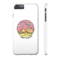 Pyramid X filies Egyptian alien ufo desert sphynx 90s retro 80s Phone Case