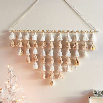 Tassel Bell Branch Wall Hanging - Urban Outfitters