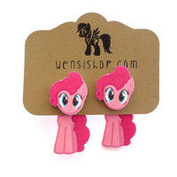 Pinkie Pie (MLP Friendship is Magic Inspired) Cling Earrings