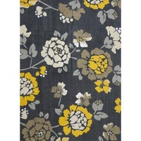 Room Essentials® Flat Woven Floral Area Rug - Gray/Yellow (5'x7')