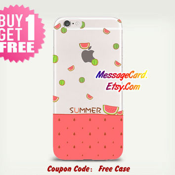 Watermelon Clear Phone Case for iPhone 6 6s plus 6 6s 5s 5 4s 4 , Ctystal Clear iPhone 6 6s Case , Custom Clear iPhone 6 6s Case Transparent