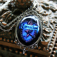 FIVE OFF SALE Ravenclaw House Crest Necklace by Psyanea on Etsy
