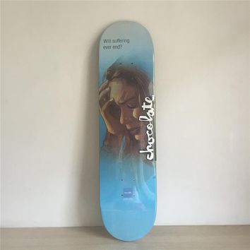 "Will Suffering Ever End? Watch Tower 8"" Canadian Maple Blue Skateboard Deck"
