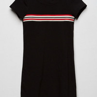 FULL TILT Chest Stripe Black Girls T-Shirt Dress