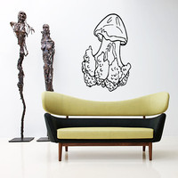 Jellyfish Wall Decal Scuba Tentacles Deep Sea Ocean Fish Wall Decals Vinyl Sticker Interior Home Decor Vinyl Art Wall Decor Bedroom SV5818