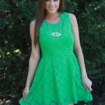In The Garden Dress, Green