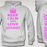 keep calm and love justin bieber HOODIE justin bieber by TeesGame