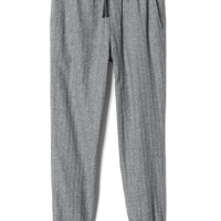 Linen-cotton herringbone joggers | Gap