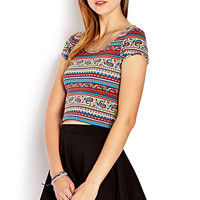 Popping Paisley Crop Top