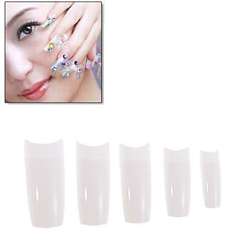 10 Sizes 500 Piece Plastic French Nail Art Tip-Creamy White