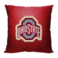 Ohio State Buckeyes NCAA Team Letterman Pillow (18x18)