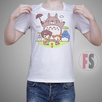 Totoro Neighbor Happy Friends Studio Ghibli AllukaArtTees Unisex Adult Tees