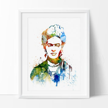 Frida Kahlo Art, Frida Kahlo Print, frida kahlo poster, Watercolor Painting, Watercolor art, Wall art print, wall hanging, wall decor - 228