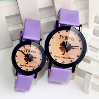 Good Price Gift Great Deal Trendy Awesome Stylish New Arrival Designer's Leaf Cartoons Couple Quartz Watch [6049438209]