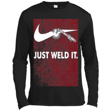 Just Weld It T shirt for funny welder welding symbol