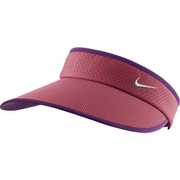 Nike Dir-FIT Womens Big Bill Visor - Geranium/Bright Grape/Metallic Silver