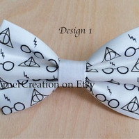Harry Potter Themed Hair bow  or  Bow tie