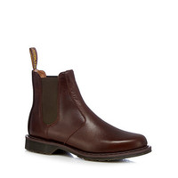 Mens Tan Dr Martens Dark brown leather Chelsea boots