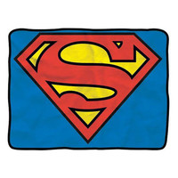 Superman Logo Fleece Throw Blanket