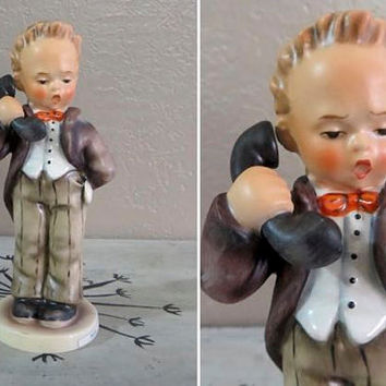 Goebel Hummel Hello Hummel Boy on Telephone TMK5 124/0 Hummel Figurine Porcelain Figurine Phone