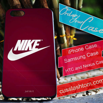 Exclusive Nike Maroon iPhone for 4 5 5c 6 Plus Case, Samsung Galaxy for S3 S4 S5 Note 3 4 Case, iPod for 4 5 Case, HtC One M7 M8
