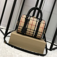 Burberry Small Bowling Bag in Leather