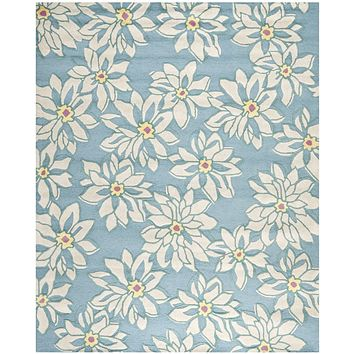 Blossom Country & Floral Indoorarea Rug Light Blue / Ivory