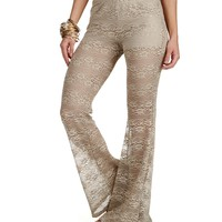 Sale-taupe Gypsy Flare Leggings