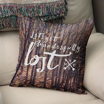 Let's Get Lost Modern Pillow Cover