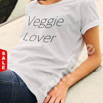Sale -  Edgy Veggie T-Shirt, Tee Veggie lover, Tee Vegan, T-Shirts Vegan, Clothing, Vegan Shirt, Vegetarian, Animal Rights Vegan, Black, Whi