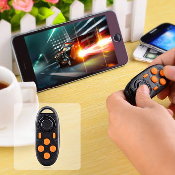 Multi Functional Bluetooth Self Timer Game Controller for iPhone Samsung  Sony - Black  Orange
