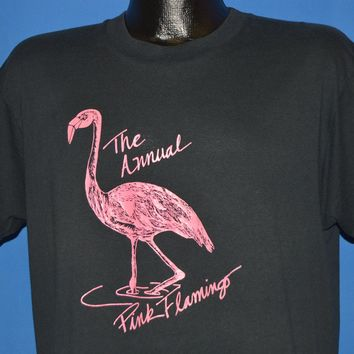 80s The Annual Pink Flamingo t-shirt Large