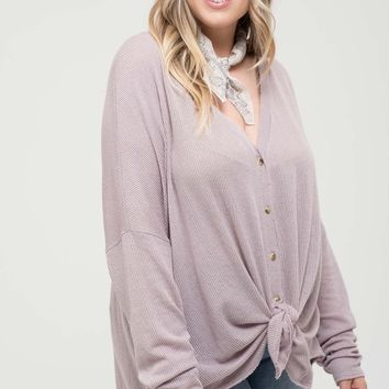Fancy Free Top + - Dusty Lavender