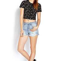 Cropped Floral Tee