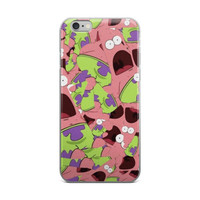 Patrick Star Collage Spongebob Squarepants iPhone 4 4s 5 5s 5C 6 6s 6 Plus 6s Plus 7 & 7 Plus Case