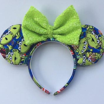 Toy Story Mickey Ears - Toy Story - Mickey Ears - Aliens - Mouse Ears - Minnie Ears - Pixar - Alien Mickey Ears