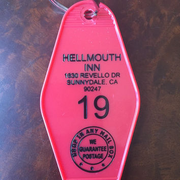 BUFFY THE VAMPIRE slayer inspired Hellmouth Inn Keytag