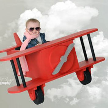 PJ's Bi-Plane Airplane toddler photography prop