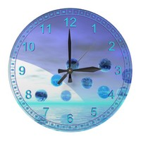 Moonlight Wonder, Abstract Journey to the Unknown Wallclock