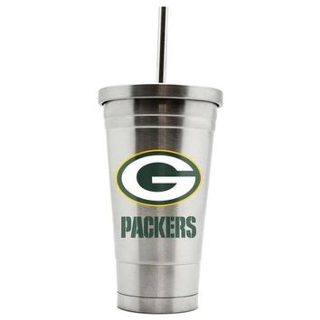 ONETOW Duckhouse 16oz stainless steel travel tumbler NFL Green Bay Packers